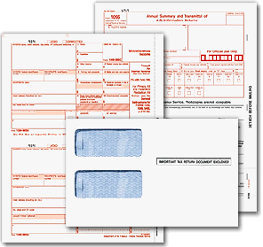 Envelopes for printed 1099 forms