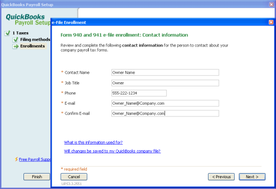 Set Up Your Federal Forms 940 941 And 944 For E File In Quickbo