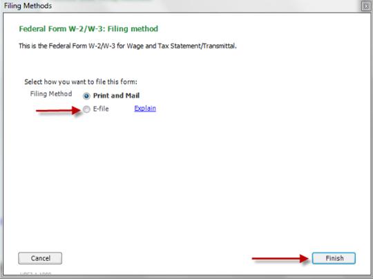 Change w2 and w3 filing method in QuickBooks Desktop