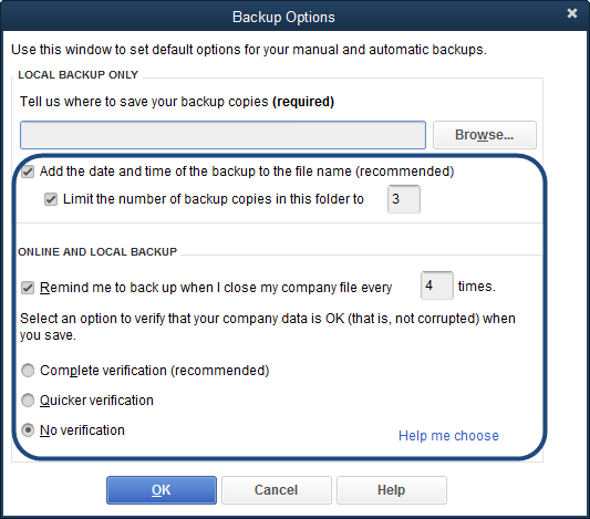 Quickbooks the company file needs to be updated