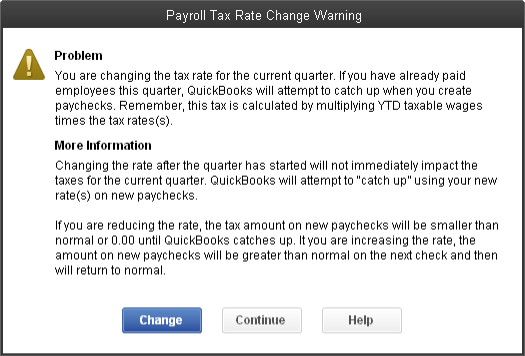 Change Sui Rate For Basic Enhanced Or Standard Payroll Quickbooks