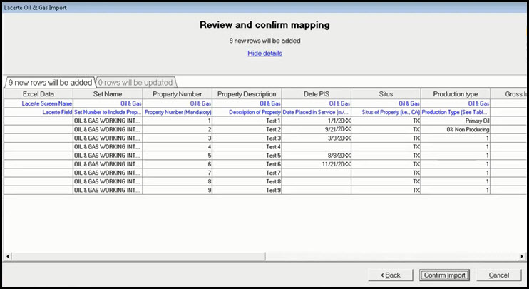 Screen Shot Five Oil and Gas Import