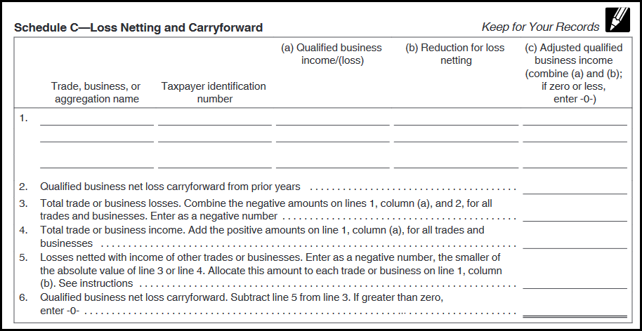 Lacerte Complex Worksheet Section 199A - Qualified Business