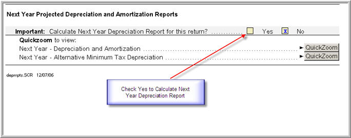 How To Calculate Next Year S Depreciation And View The Report