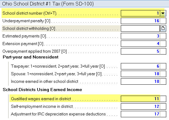 Ohio Form SD 100 Input For Some School Districts Is Manual