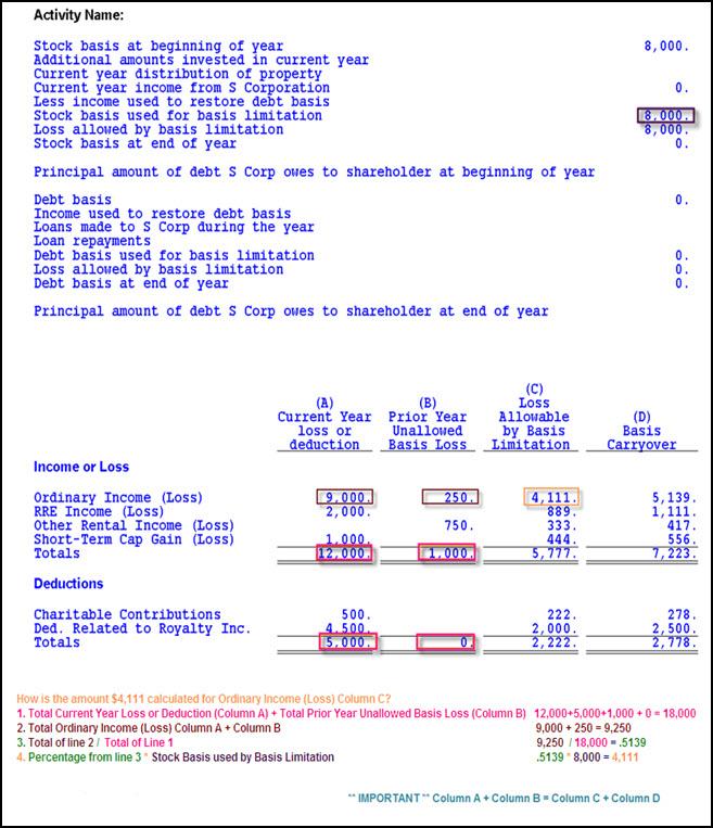 Individual Basis Limitation Worksheet - Calculating the ...