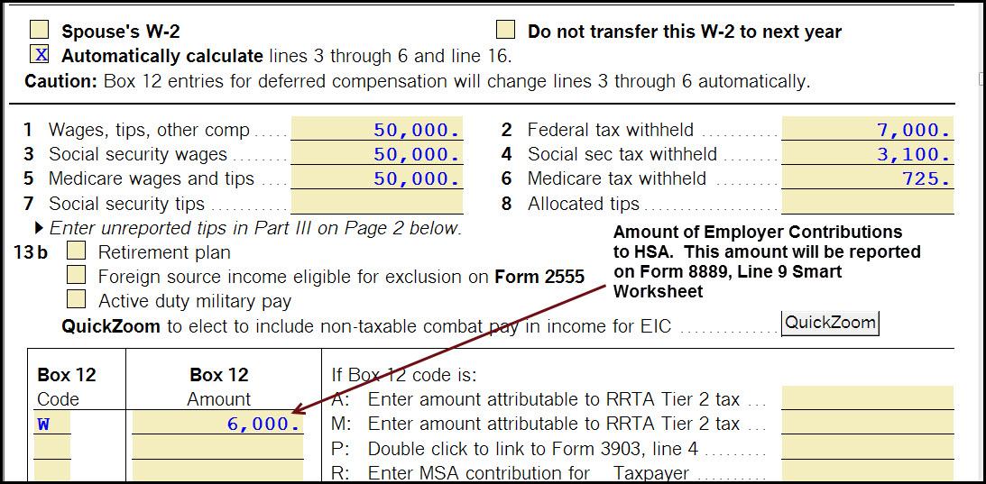 form 1040 hsa contribution  How do I enter information for a Health Savings Ac... - Tax ...