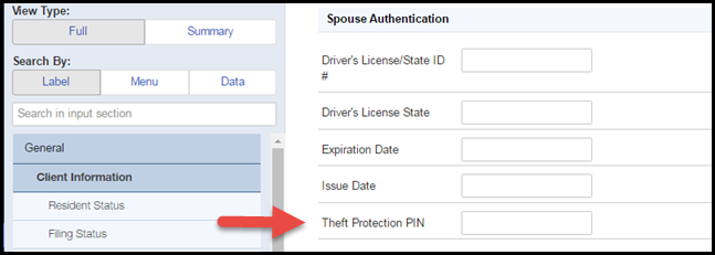 Prote Authentication Theft Accountants Community - Identity Taxpayer Entering And spouse