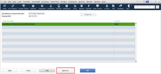 edit service key to view service key number in QuickBooks Desktop