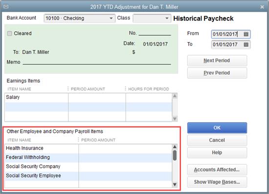 Enter wage information in QuickBooks Payroll setup