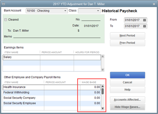 Show wage bases in QuickBooks Payroll setup