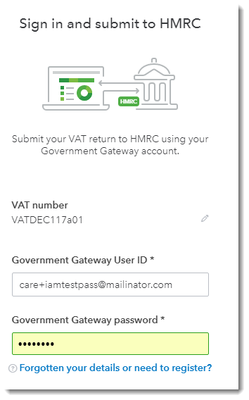 Sign in and submit to HMRC