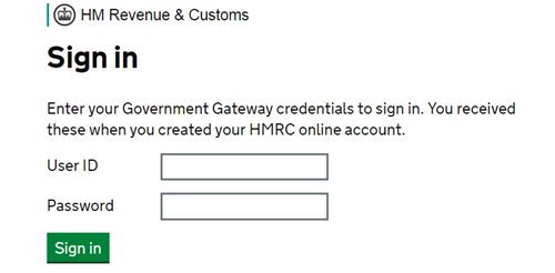 HMRC Government Gateway