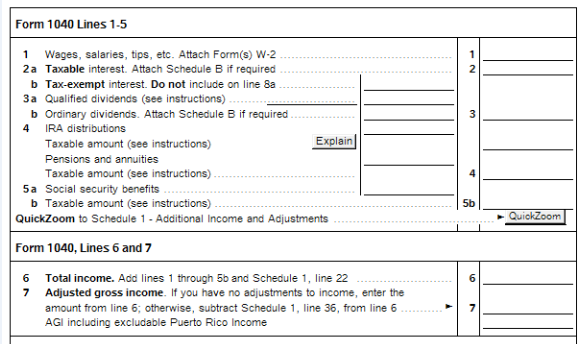 New for Tax Year 2018 ProSeries - 1040 Postcard Worksheet