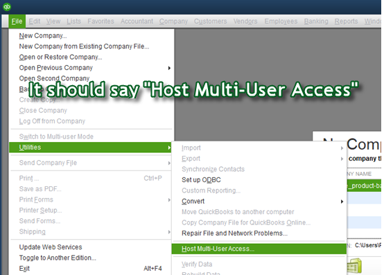 host mult-user access quickbooks h505