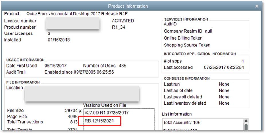 quickbooks 2018 uk license and product number